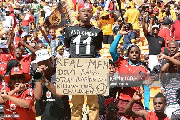 Fans during the Absa Premiership match between Orlando Pirates and Kaizer Chiefs at FNB Stadium on October 26 2013 in Soweto South Africa