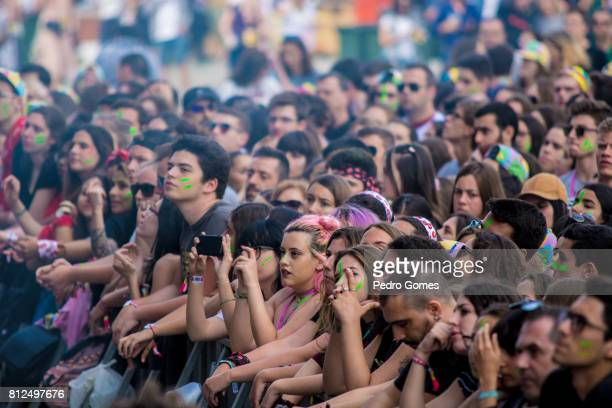 Fans during The Black Mamba performance on NOS stage at day 3 of NOS Alive festival on July 8 2017 in Lisbon Portugal