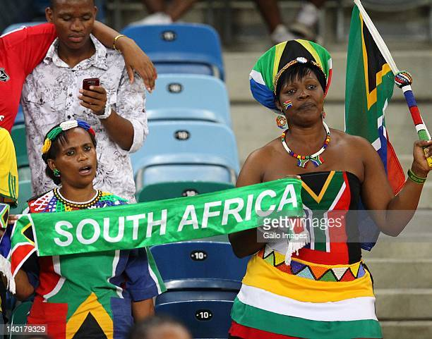 Fans during the International Friendly match between South Africa and Senegal at Moses Mabhida Stadium on February 29 2012 in Durban South Africa