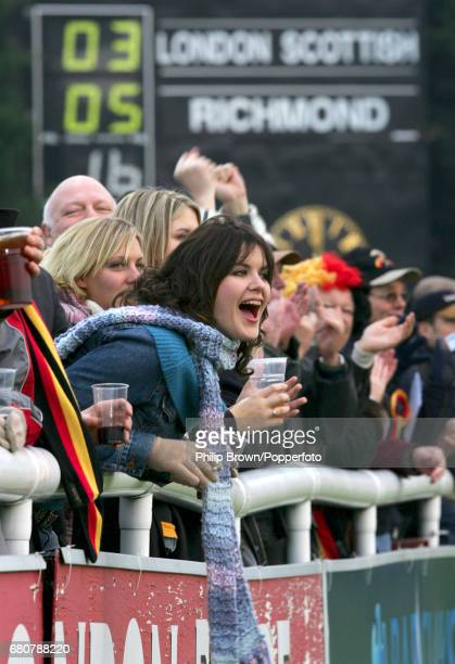 Fans during the match between London Scottish and Richmond held at the Athletic Ground in London on the 11th December 2004