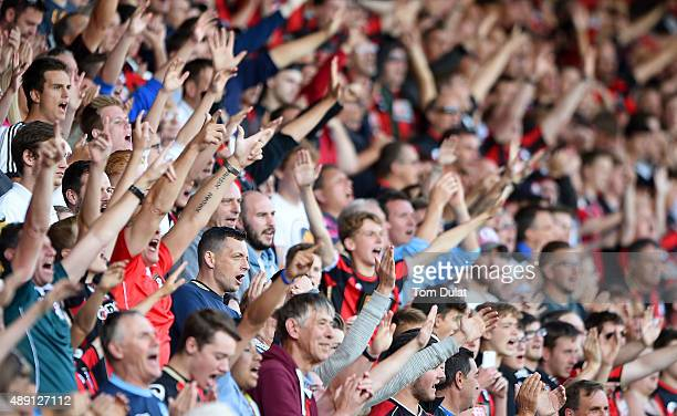 Fans during the Premier League match between Bournemouth and Sunderland at the Vitality Stadium on September 19 2015 in Bournemouth United Kingdom