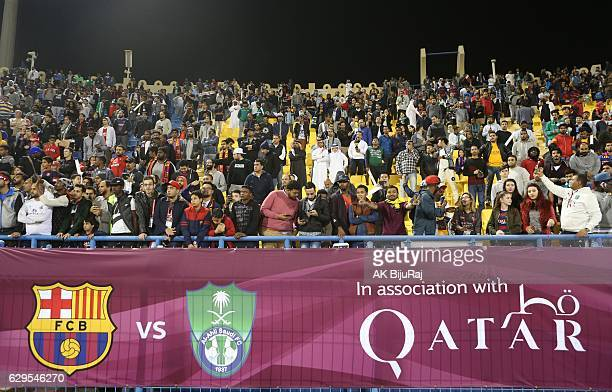 Fans during the Qatar Airways Cup match between FC Barcelona and AlAhli Saudi FC on December 13 2016 in Doha Qatar