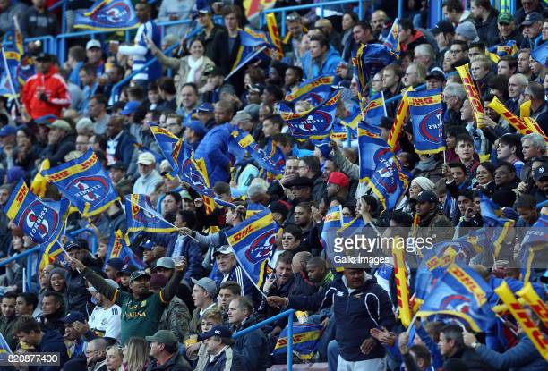 Fans during the Super Rugby Quarter final between DHL Stormers and Chiefs at DHL Newlands on July 22 2017 in Cape Town South Africa