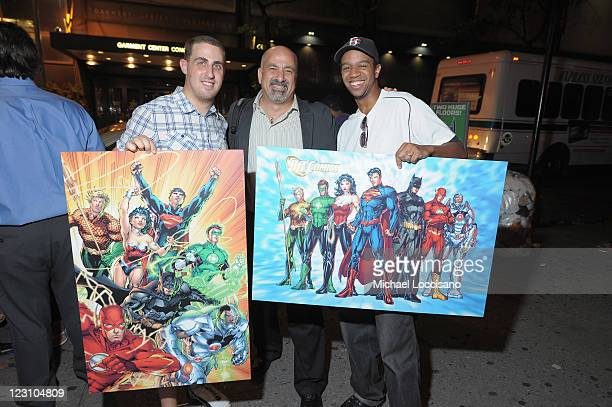 Fans eagerly await a chance to meet DC Comics legends Jim Lee and Geoff Johns at Midnight Madness Event in Times Square Celebrating New No 1 issue of...