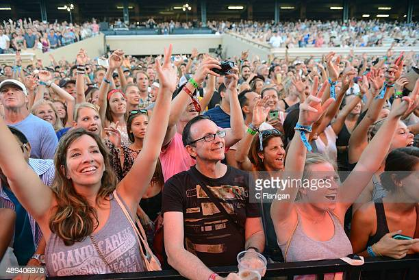 Fans enjoy listening to music during 2015 KAABOO Del Mar at the Del Mar Fairgrounds on September 20 2015 in Del Mar California