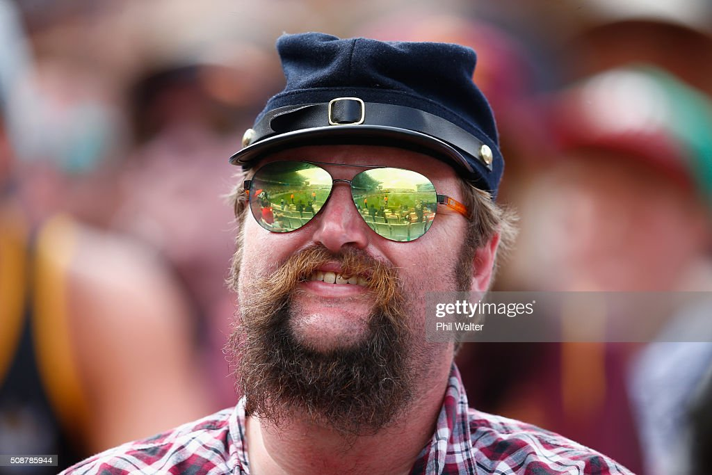 Fans enjoy the action during the 2016 Auckland Nines at Eden Park on February 7, 2016 in Auckland, New Zealand.