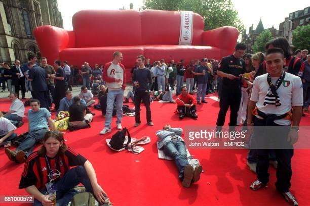 Fans enjoy the Amstel Living Room