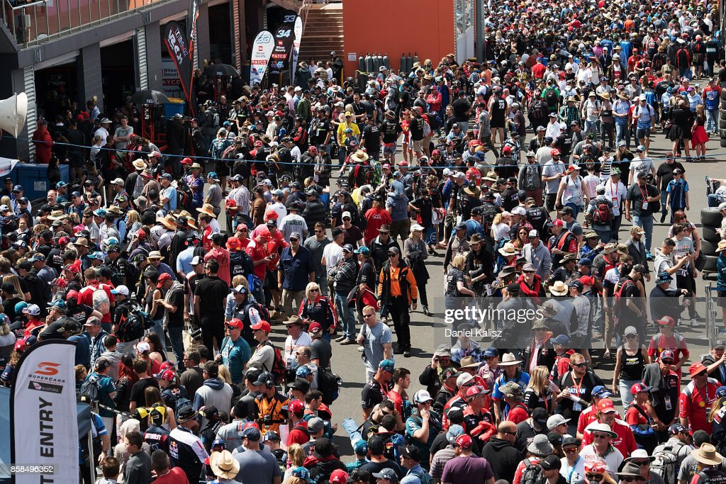 Fans enjoy the atmosphere during practice ahead of this weekend's Bathurst 1000, which is part of the Supercars Championship at Mount Panorama on October 7, 2017 in Bathurst, Australia.