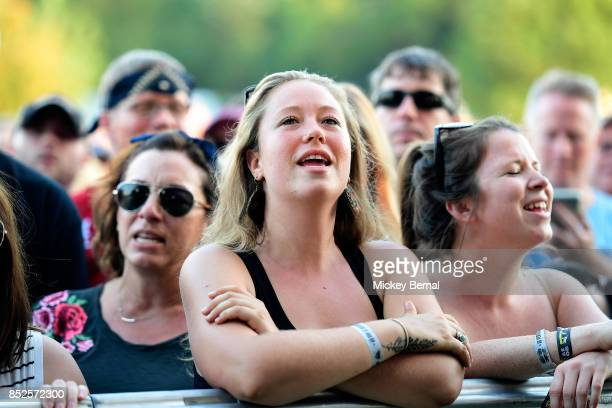 Fans enjoy the Avett Brothers during Pilgrimage Music Cultural Festival on September 23 2017 in Franklin Tennessee