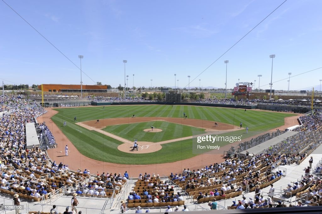 Fans enjoy the game between the Chicago White Sox and Los Angeles Dodgers on March 1 2009 at The Ballpark at Camelback Ranch in Glendale Arizona