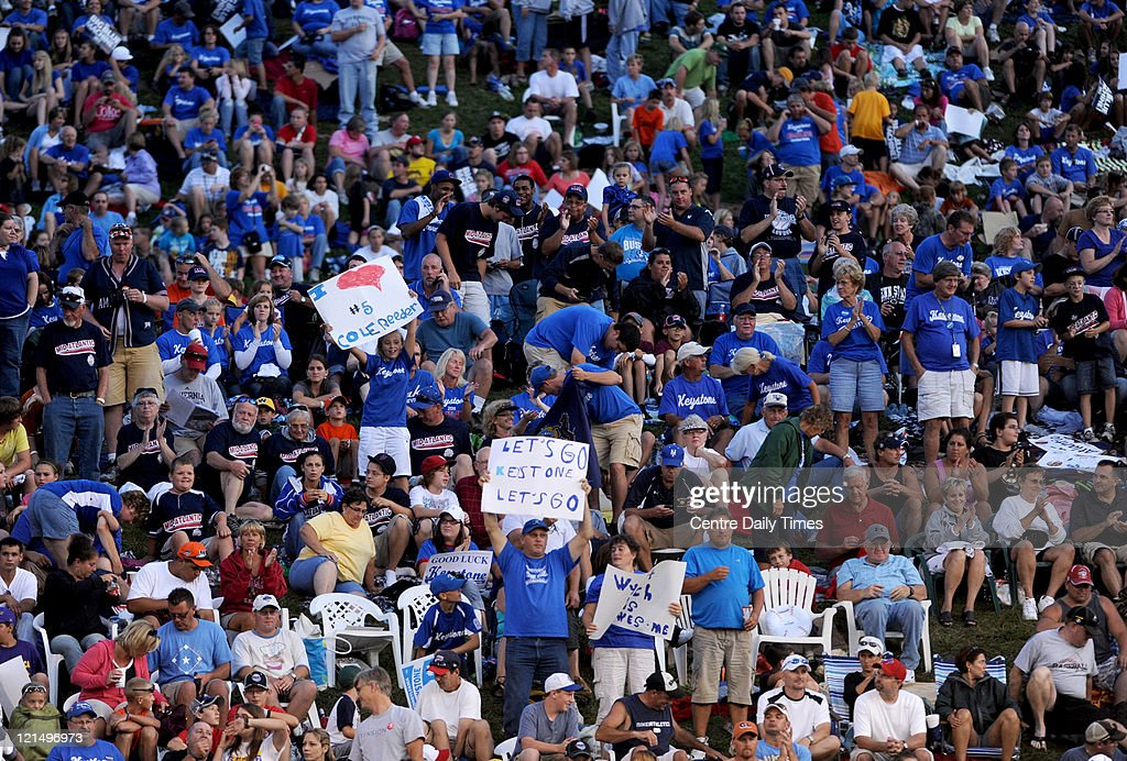 Fans filled the hillside and stands at Lamade Stadium in South Williamsport, Pennsylvania, before the start of the Mid-Atlantic versus Great Lakes game at the 2011 Little League World Series on Friday, August 19, 2011.