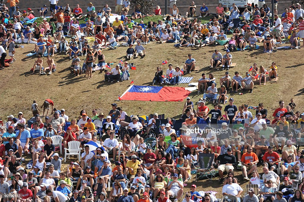 Fans gather before the game between California (Chula Vista) and Asia Pacific (Taoyuan, Taiwan) in the little league world series final at Lamade Stadium on August 30, 2009 in Williamsport, Pennsylvania.