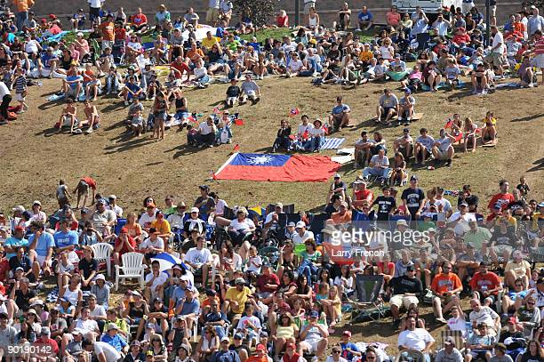 Fans gather before the game between California and Asia Pacific in the little league world series final at Lamade Stadium on August 30 2009 in...