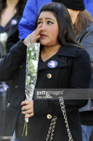 Fans gather to mourn the loss of singer Jenni Rivera at her memorial ceremony held at Gibson Amphitheatre on December 19 2012 in Universal City...