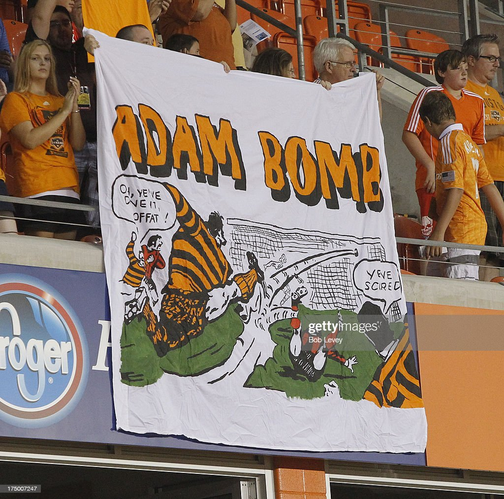 Fans get ready as the Houston Dynamo play the Chicago Fire at BBVA Compass Stadium on July 27, 2013 in Houston, Texas.