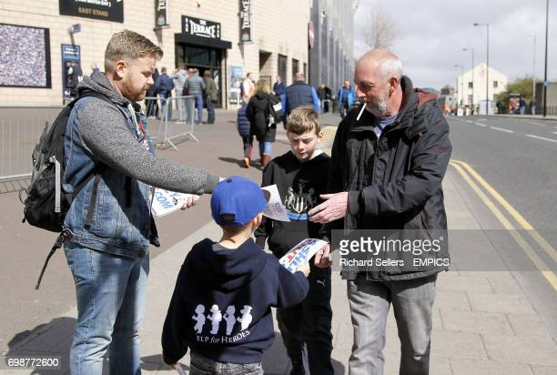 Fans hand out flyers for the Ashley out campaign