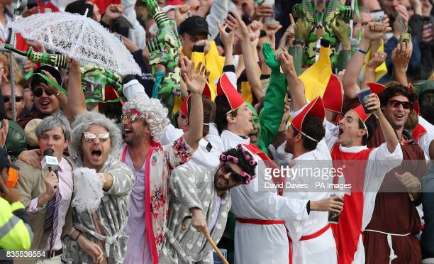 Fans in fancy dress during day three of the First Investec Test match at Edgbaston Birmingham