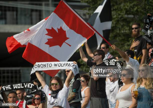 Fans in one corner were more vocal than most of the stadium The Toronto Wolfpack ist half action as they host the final home game of the inaugural...