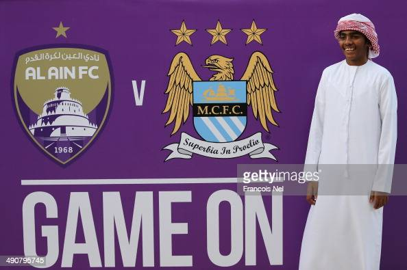 Fans is pictured prior to the start of the friendly match between Al Ain and Manchester City at Hazza bin Zayed Stadium on May 15 2014 in Al Ain...