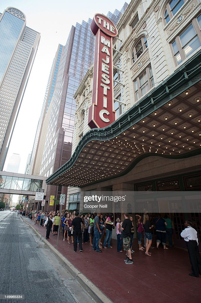 Fans line up outside The Majestic Theater before the taping of CW's 'The Next' on August 7 2012 in Dallas Texas