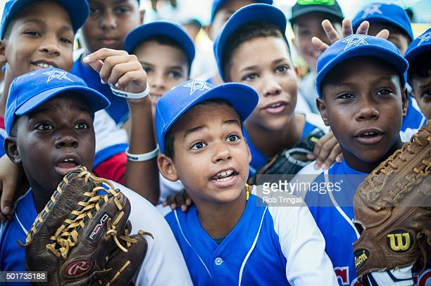 Fans look on during an MLB goodwill tour on Tuesday December 16 2015 in Havana Cuba