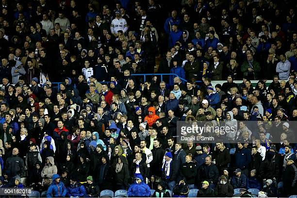 Fans look on during The Emirates FA Cup Third Round match between Leeds United and Rotherham United at Elland Road on January 9 2016 in Leeds England