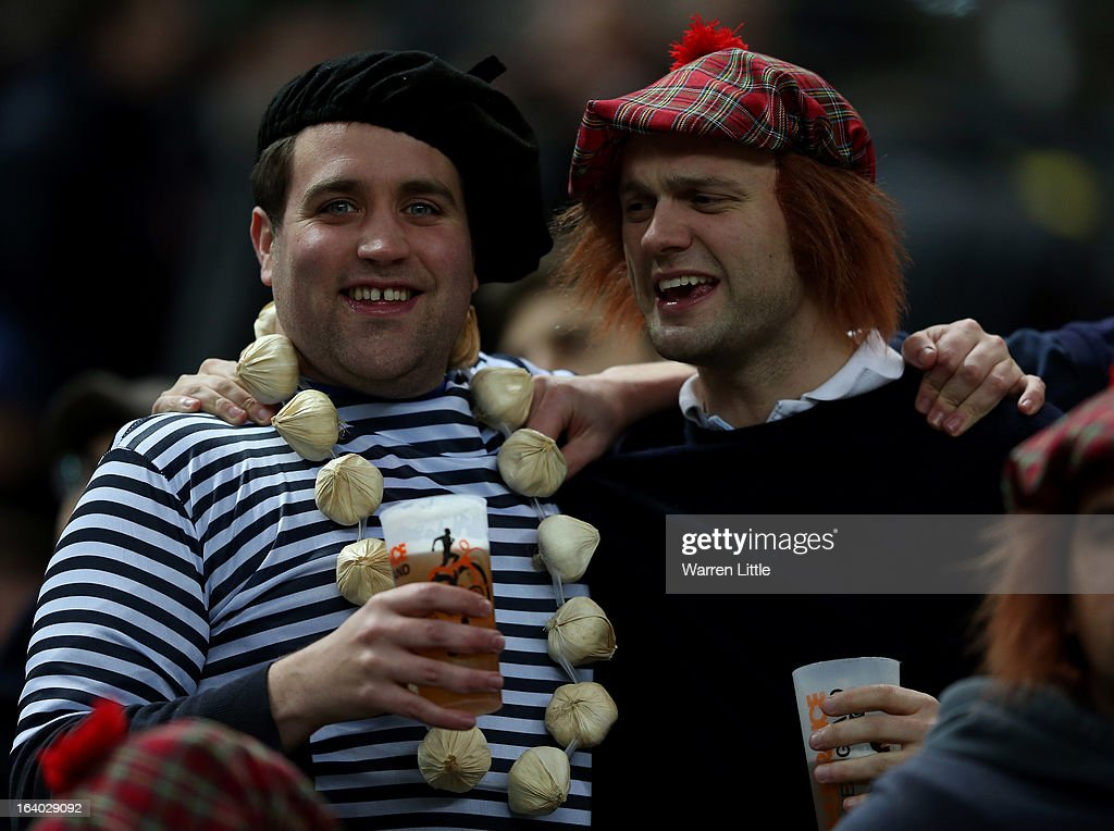 Fans look on during the RBS Six Nations match between France and Scotland at Stade de France on March 16, 2013 in Paris, France.