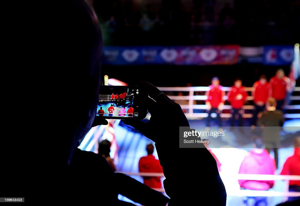 Fans look on during the World Series of Boxing Match between British Lionhearts and USA Knockouts at York Hall on January 17, 2013 in London, England.