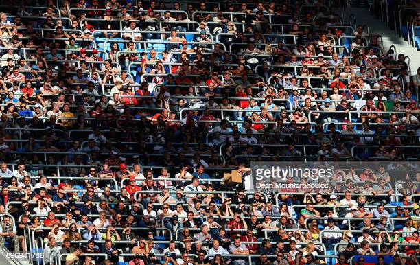 Fans looks on during the FIFA Confederations Cup Russia 2017 Group A match between Russia and New Zealand at Saint Petersburg Stadium on June 17 2017...