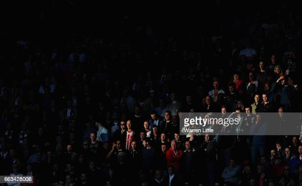 Fans looks on during the Premier League match between Southampton and AFC Bournemouth at St Mary's Stadium on April 1 2017 in Southampton England