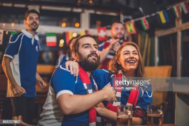 Fans loving their team
