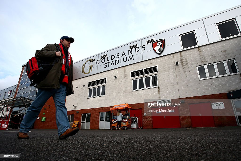 Fans make their way into the ground ahead of the Sky Bet Championship match between AFC Bournemouth and Norwich City at Goldsands Stadium on January...