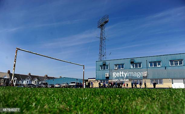 Fans make their way to the ground ahead of the Sky Bet League Two match between Torquay United and Wycombe Wanderers at Plainmoor on May 3 2014 in...