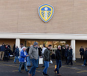 Fans make their way to the ground during the Sky Bet Championship match between Leeds United and Fulham at Elland Road on December 13 2014 in Leeds...