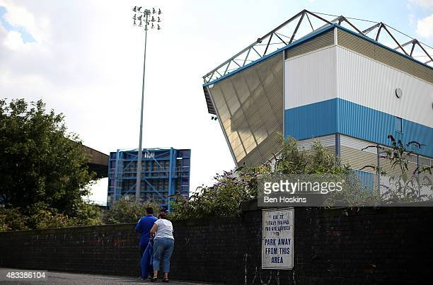 Fans make their way to the stadium ahead of the Sky Bet Championship match between Birmingham City and Reading at St Andrews Stadium on August 8 2015...