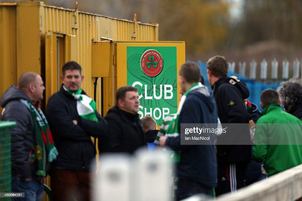 CARLISLE, ENGLAND - NOVEMBER 16 Fans mill around the club shop during the Ebac Division One football match between Celtic Nation and Hebburn Town on November 16, 2013 at Gillford Park in Carlisle, England.