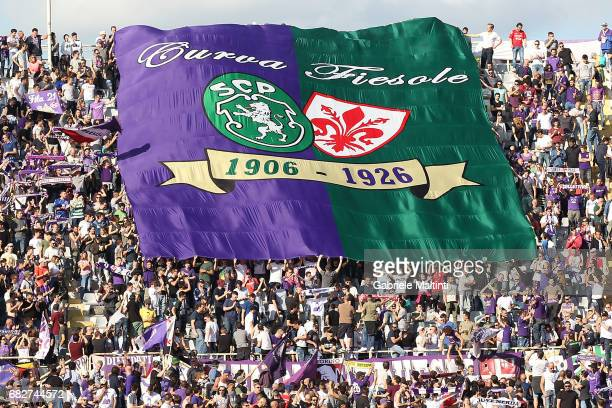 Fans of ACF Fiorentina during the Serie A match between ACF Fiorentina and SS Lazio at Stadio Artemio Franchi on May 13 2017 in Florence Italy