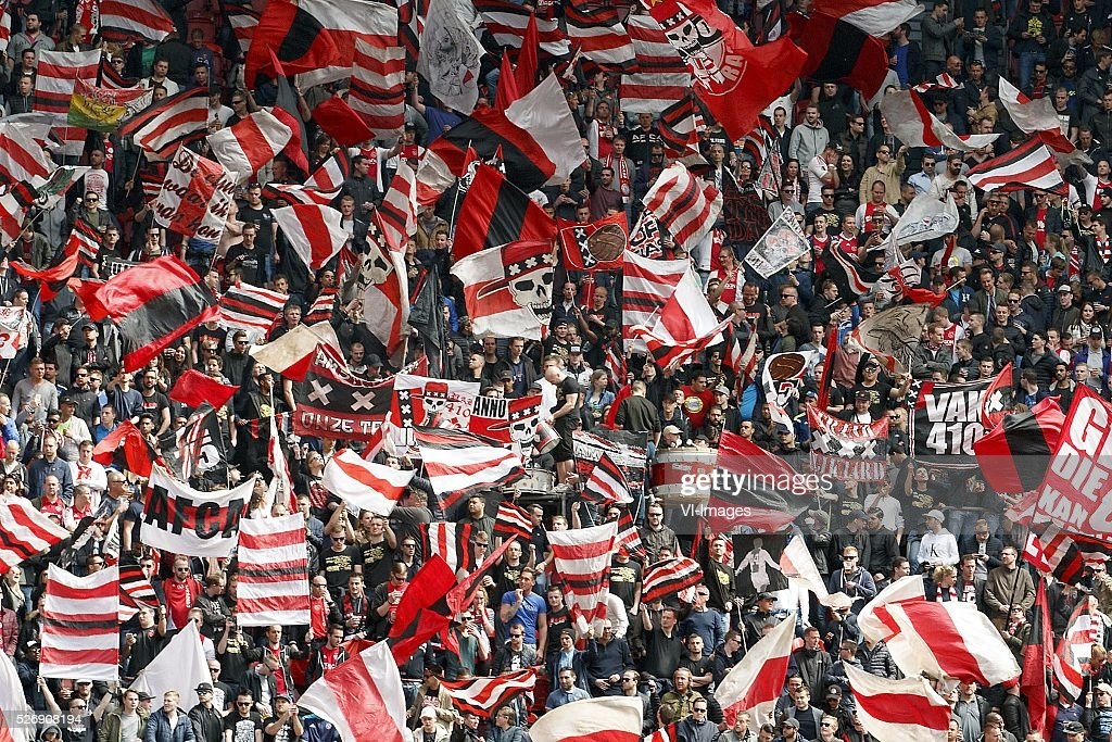 fans of Ajax supporters during the Dutch Eredivisie match between Ajax Amsterdam and FC Twente at the Amsterdam Arena on May 01, 2016 in Amsterdam, The Netherlands
