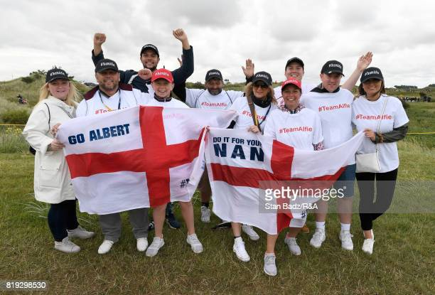Fans of Amateur Alfie Plant of England during the first round of the 146th Open Championship at Royal Birkdale on July 20 2017 in Southport England