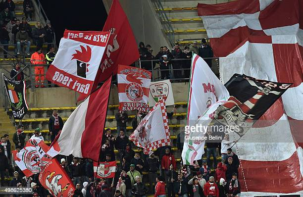 Fans of AS Bari during a tournament between FC Internazionale AC Milan and AS Bari at Stadio San Nicola on November 24 2015 in Bari Italy