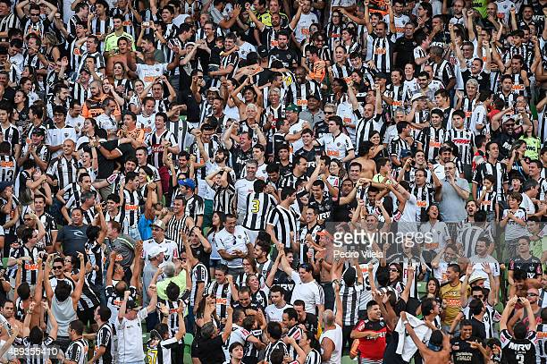 Fans of Atletico MG a match between Atletico MG and Flamengo as part of Brasileirao Series A 2015 at Independencia stadium on September 20 2015 in...