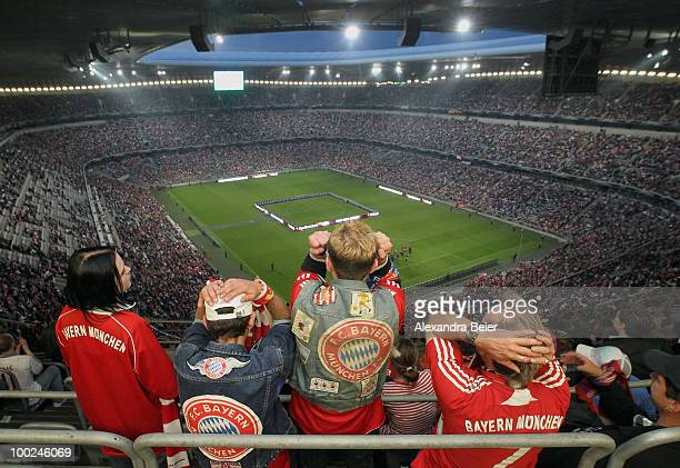 Fans of Bayern Muenchen react during the public viewing of UEFA Champions League Final match between FC Bayern Muenchen and Inter Milan at Allianz...