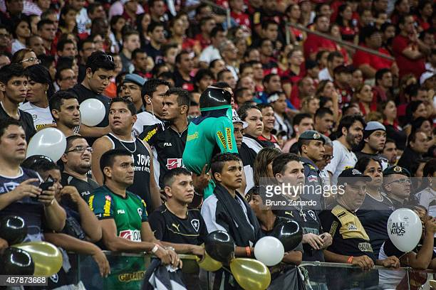 Fans of Botafogo during the Brasileirao Series A 2014 match between Flamengo and Botafogo at Arena da Amazonia on October 25 2014 in Manaus Brazil