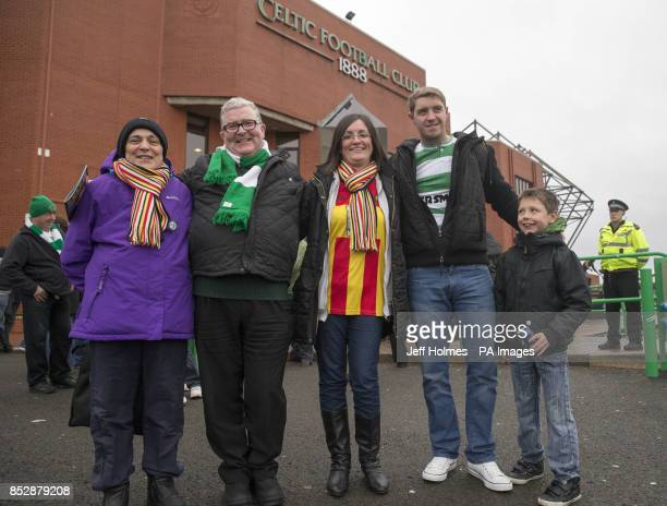 Fans of Celtic and Partick Thistle ahead of the Glasgow Derby at Celtic Park Glasgow