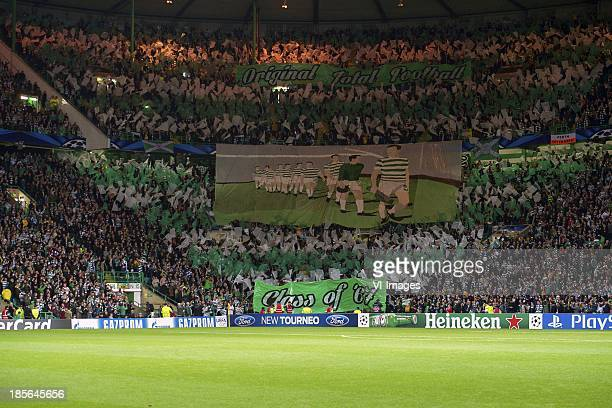 fans of Celtic Class of 1967 during the Champions League match between Celtic FC and Ajax Amsterdam on October 22 2013 at the Celtic Park in Glasgow...
