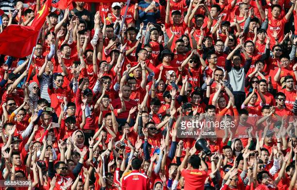 fans of China look on during Iran against China PR FIFA 2018 World Cup Qualifier on March 28 2017 in Tehran Iran