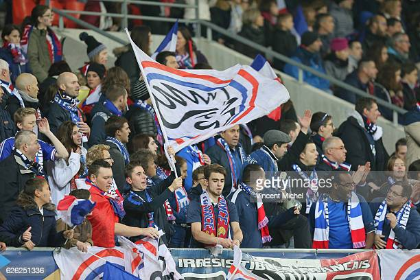 Fans of Club France during International Friendly match between France and Spain at MMA Arena on November 26 2016 in Le Mans France