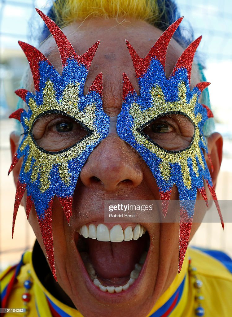 Fans of Colombia arrive at the stadium for the Group C match between Colombia and Japan at Arena Pantanal on June 24, 2014 in Cuiaba, Brazil.