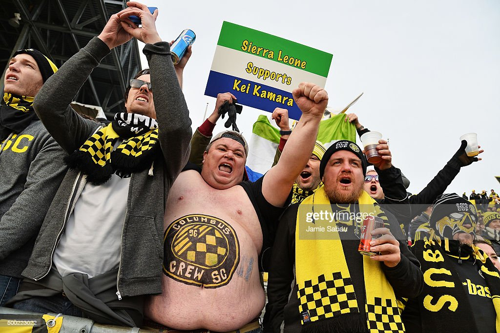 Fans of Columbus Crew SC cheer before the 2015 MLS Cup between the Columbus Crew SC and the Portland Timbers on December 6, 2015 at MAPFRE Stadium in Columbus, Ohio.