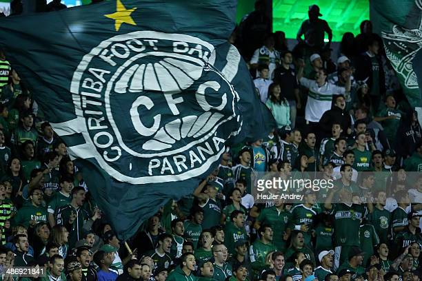 Fans of Coritiba during the match between Coritiba and Santos for the Brazilian Series A 2014 at Couto Pereira stadium on April 26 2014 in Coritiba...